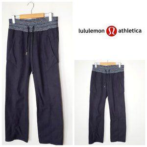 LULULEMON Black/Grey Post Run Fleece Pants